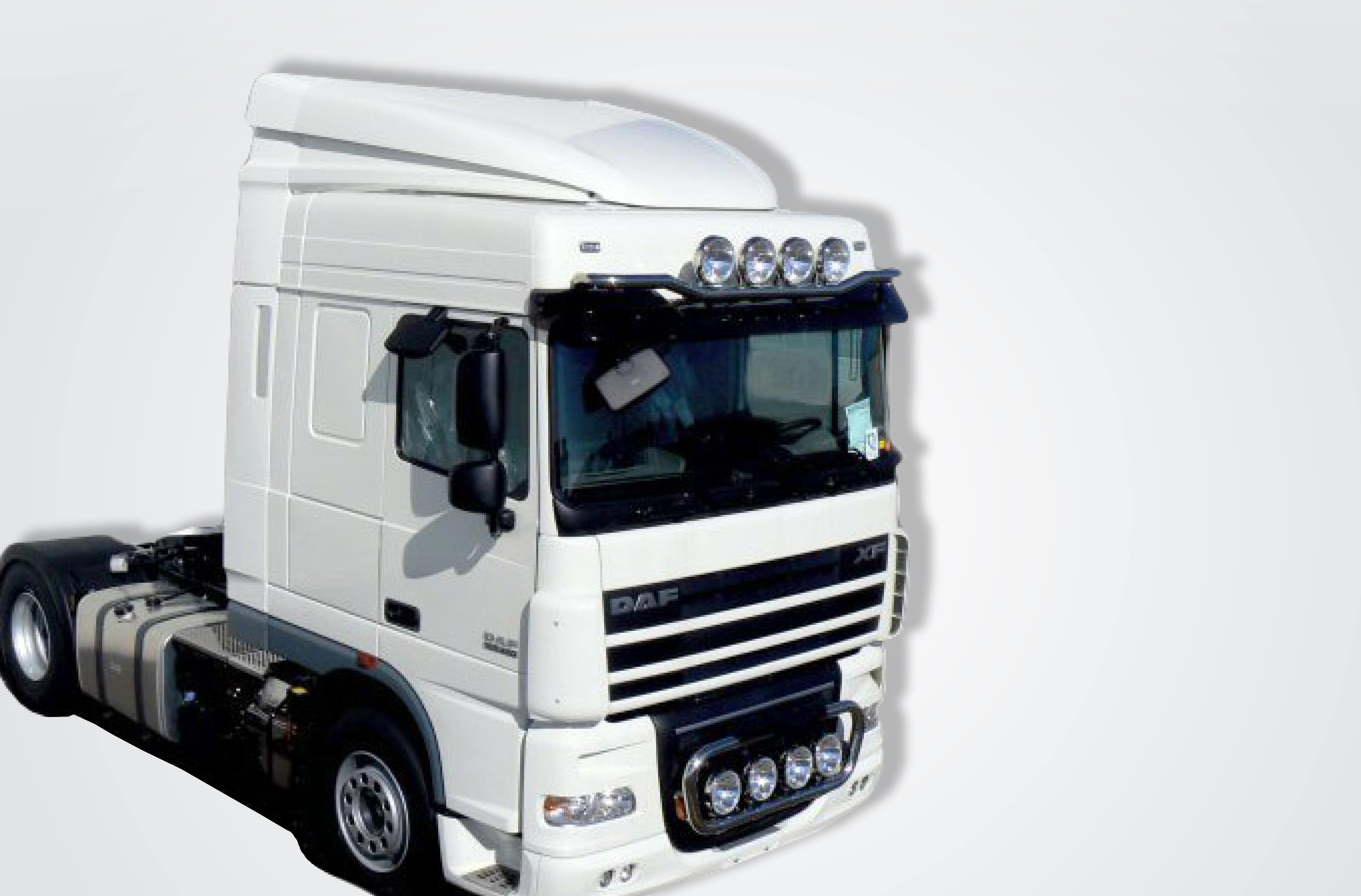 Deflector regulable Daf XF 105 Space Cab - Con aletas