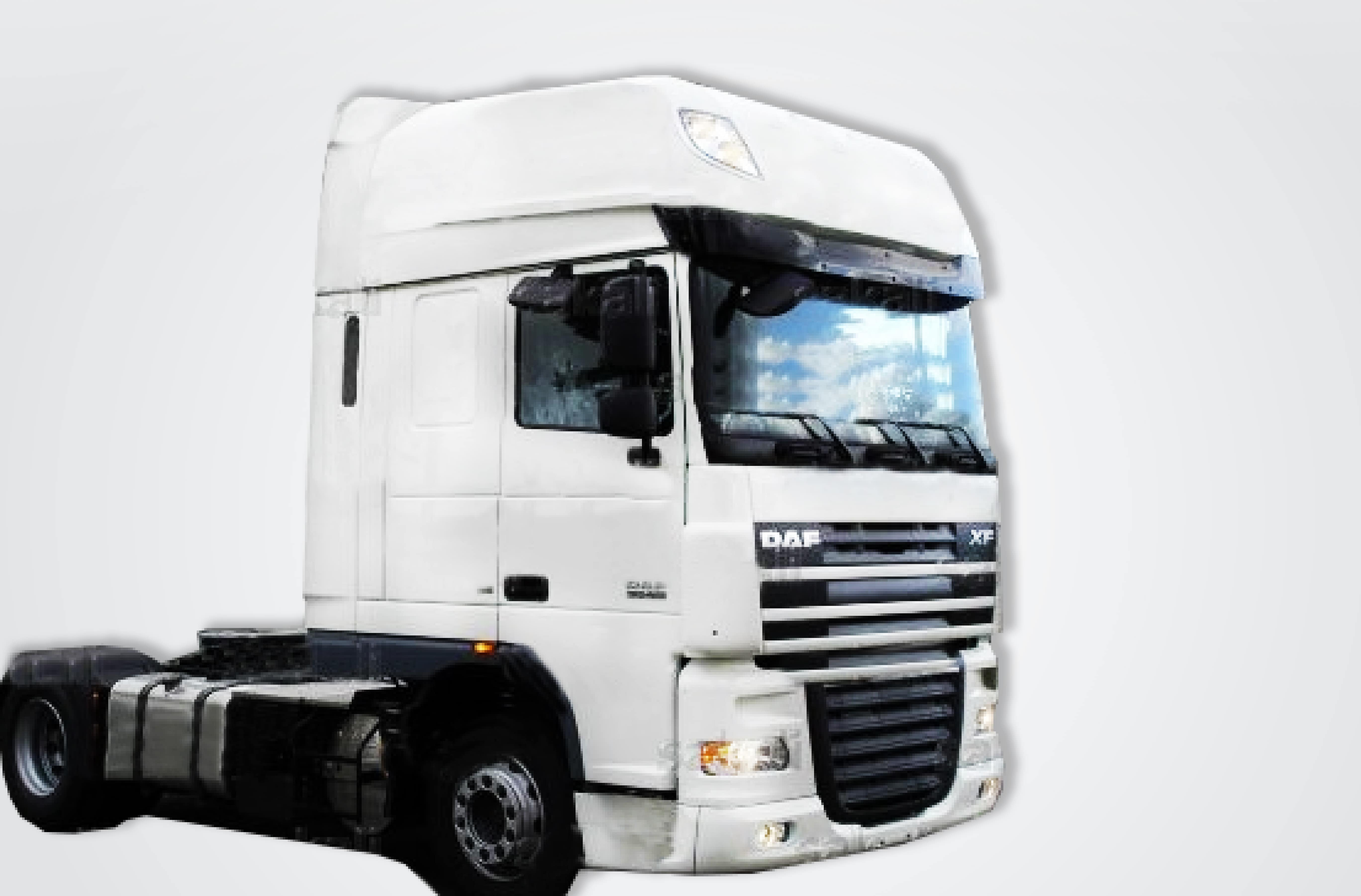 Deflector regulable Daf XF 105 Super Space Cab - Con aletas